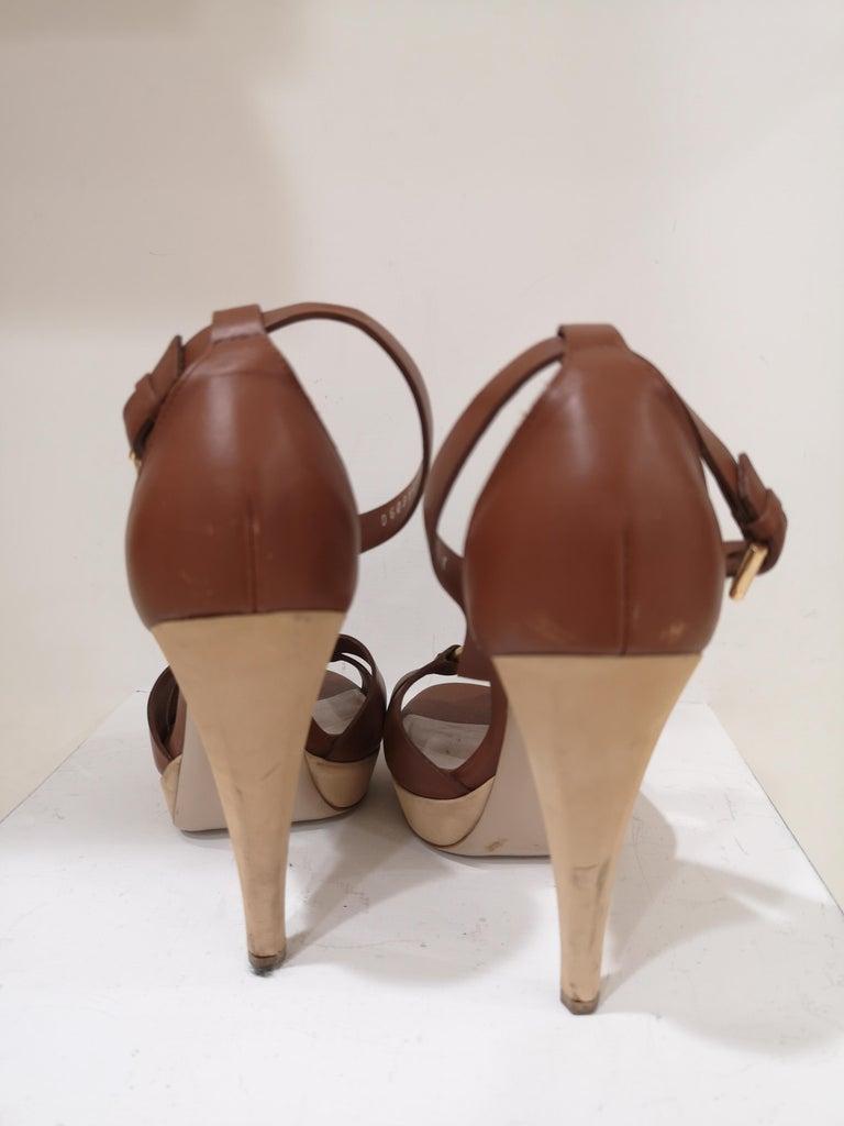 Salvatore Ferragamo  brown sandals For Sale 5