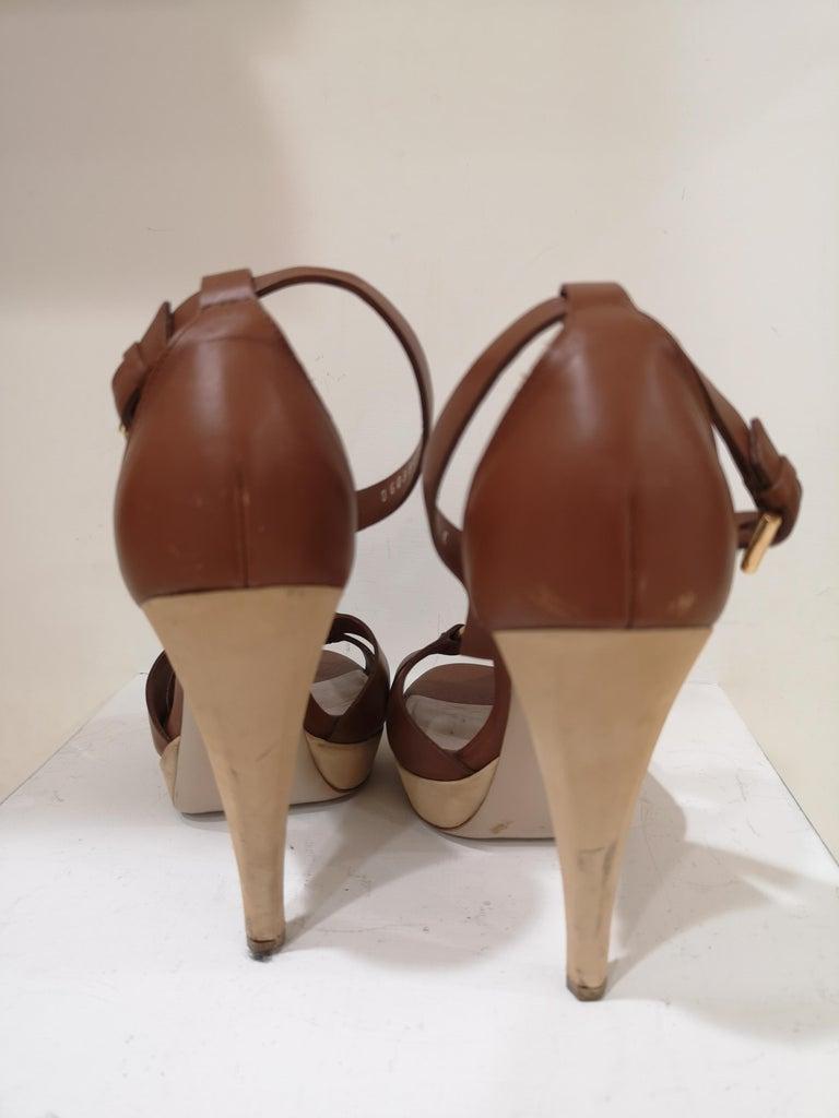 Salvatore Ferragamo  brown sandals For Sale 6