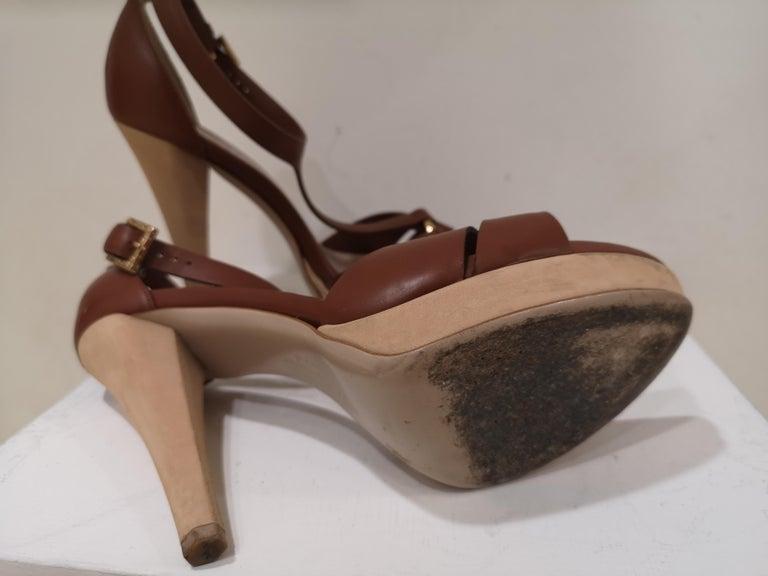 Black Salvatore Ferragamo  brown sandals For Sale