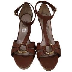 Salvatore Ferragamo  brown sandals
