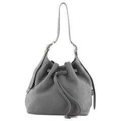 Salvatore Ferragamo Carla Drawstring Bucket Bag Leather Large