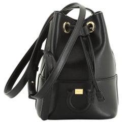 Salvatore Ferragamo City Bucket Bag Leather Small