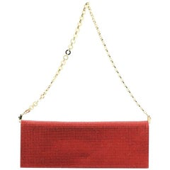 Salvatore Ferragamo Clutch on Chain Crystal Embellished Satin Medium