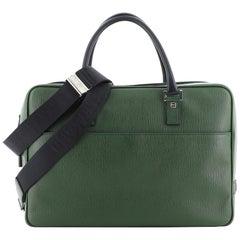 Salvatore Ferragamo Convertible Zip Briefcase Leather Large