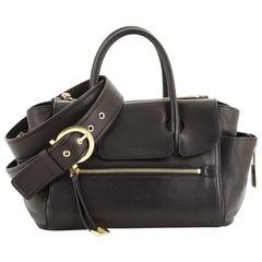 Salvatore Ferragamo Convertible Zip Pocket Tote Leather Small