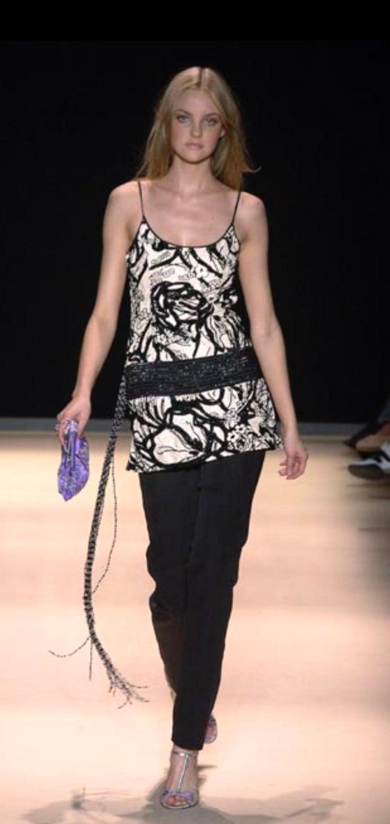 Salvatore Ferragamo Embroidered Nude & Black Embellished Sequin Dress Tunic For Sale 4