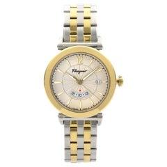 Salvatore Ferragamo Feroni GMT Two-Tone Champagne Dial Quartz Watch SF4400119