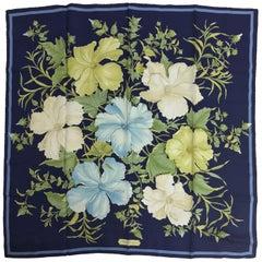 Salvatore Ferragamo Floral Silk Twill Scarf