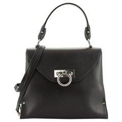 Salvatore Ferragamo Gancini Envelope Top Handle Bag Leather Medium