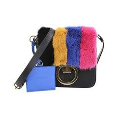 Salvatore Ferragamo Gancio Crossbody Bag Leather and Fur Small