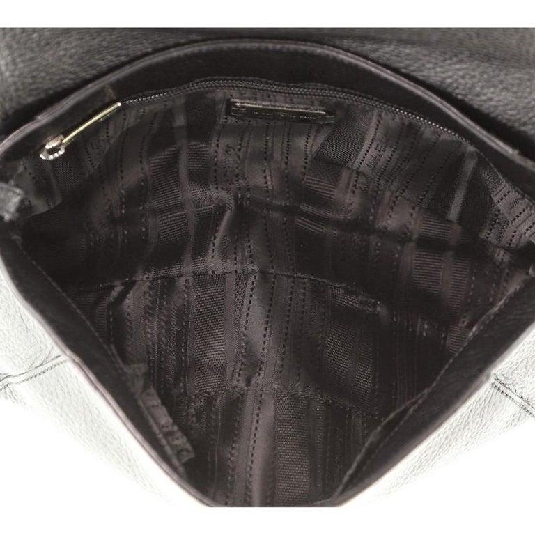 Women's or Men's Salvatore Ferragamo Gancio Flap Shoulder Bag Leather Medium