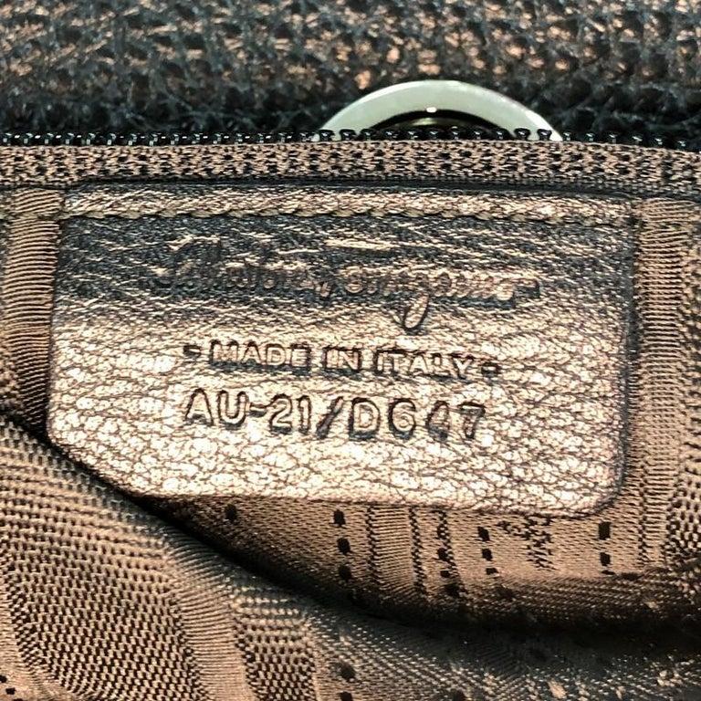 Salvatore Ferragamo Gancio Flap Shoulder Bag Leather Medium 3