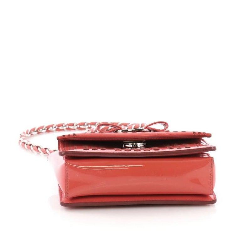 04e8599a89 Women s Salvatore Ferragamo Ginny Crossbody Bag Laser Cut Patent Mini For  Sale