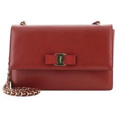 Salvatore Ferragamo Ginny Crossbody Bag Leather Medium