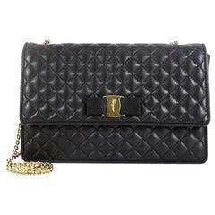 Salvatore Ferragamo Ginny Crossbody Bag Quilted Leather Medium