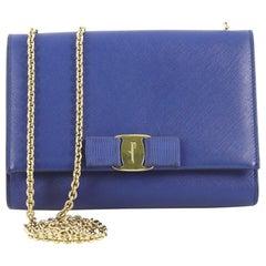Salvatore Ferragamo Ginny Crossbody Bag Saffiano Leather Small