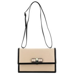 Salvatore Ferragamo Ginny Crossbody Bag Saffiano with Patent Medium