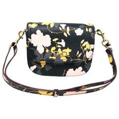 Salvatore Ferragamo Greta Flowers Saffiano Leather Shoulder Women's Bag 0646373