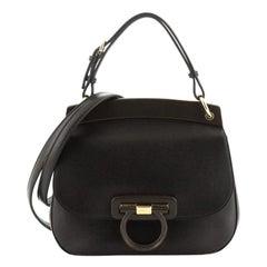 Salvatore Ferragamo Hermada Shoulder Bag Leather Small
