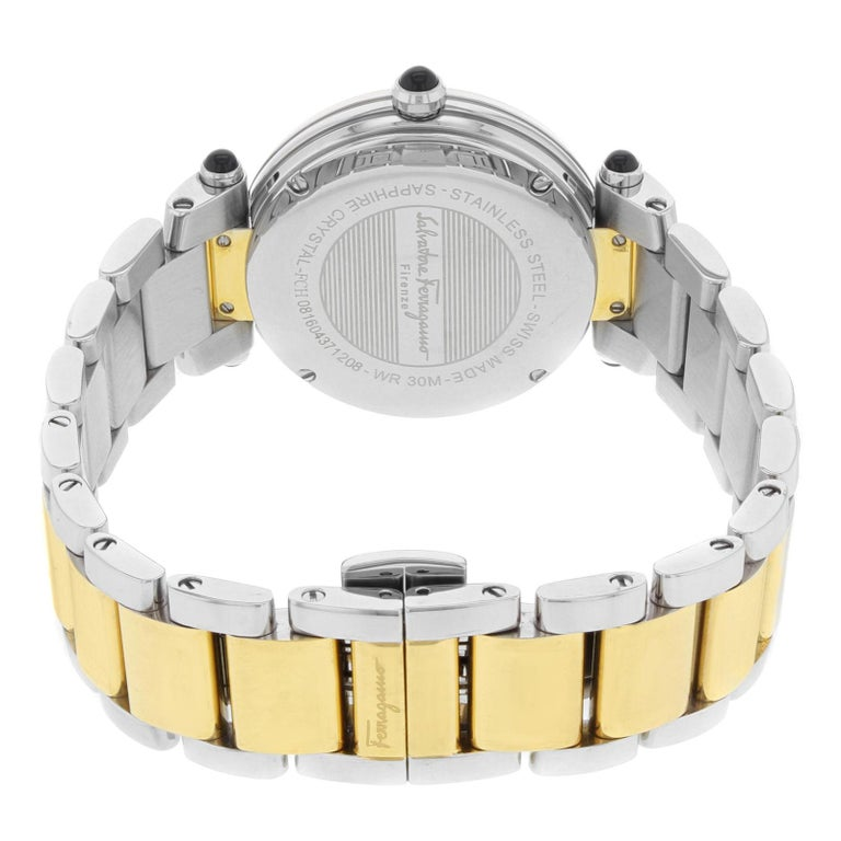 Salvatore Ferragamo Idillio Ion Plated Mother-of-Pearl Dial Steel Ladies Watch For Sale 1