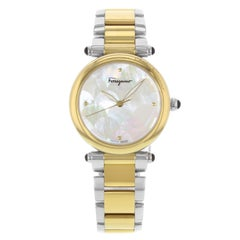 Salvatore Ferragamo Idillio Ion Plated Mother-of-Pearl Dial Steel Ladies Watch