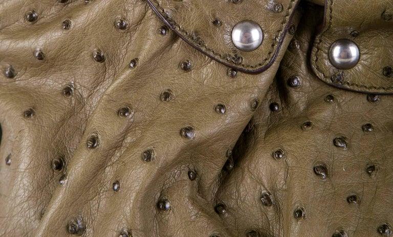Salvatore Ferragamo Large Ostrich Skin Tote Shoulder Bag In New Condition In Switzerland, CH