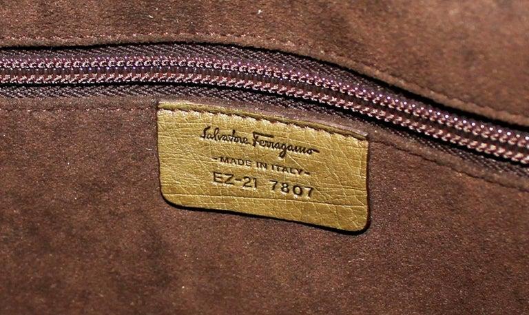 Salvatore Ferragamo Large Ostrich Skin Tote Shoulder Bag 3