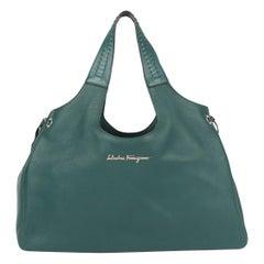 Salvatore Ferragamo Large Tote Bag - emerald green