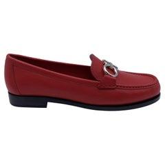 Salvatore Ferragamo Leather Rolo Loafers Moccassins Size 4.5C 35C
