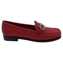 Salvatore Ferragamo Leather Rolo Loafers Moccassins Size US 7C EU 37.5