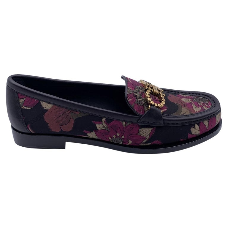 Salvatore Ferragamo Leather Rolo T Loafers Moccassins Size 5.5D 36D For Sale