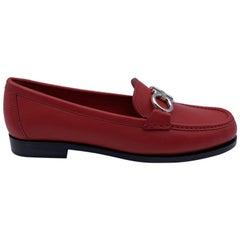 Salvatore Ferragamo Leather Rolo Loafers Moccassins Size 6C 36.5C