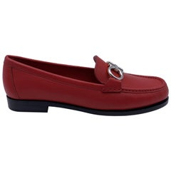 Salvatore Ferragamo Leather Rolo Loafers Moccassins Size 7.5C 38C