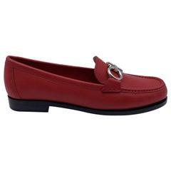 Salvatore Ferragamo Leather Rolo Loafers Moccassins Size 8.5C 39C