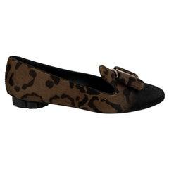 Salvatore Ferragamo Leopard Pony Hair Sarno Ballet Flat Size 6.5C 37C