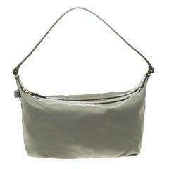 05081762761f Salvatore Ferragamo Olive Green Lizard With Wood Link Straps Handbag ...