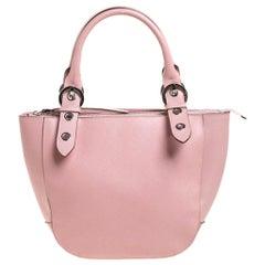 Salvatore Ferragamo Light Pink Leather Tote