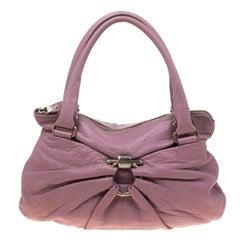 Salvatore Ferragamo Lilac Leather Kimberly Satchel