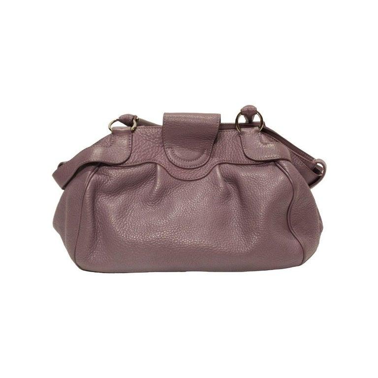 Gray Salvatore Ferragamo Marisa Shoulder Bag