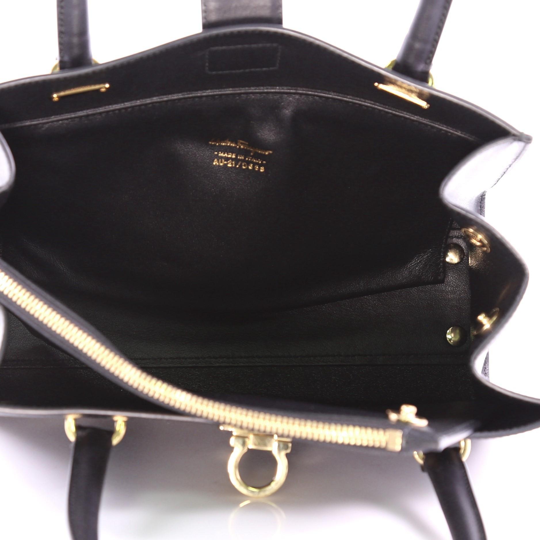 5994f6363e57 Salvatore Ferragamo Marlene Tote Leather Medium at 1stdibs