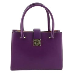 Salvatore Ferragamo Marlene Tote Leather Small