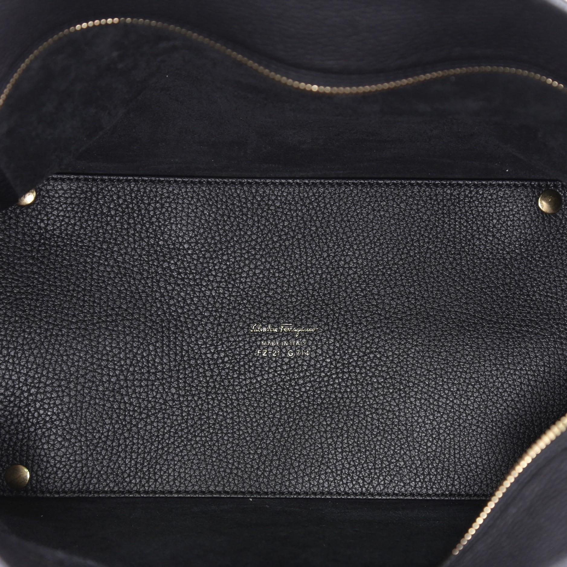 16a369065e Salvatore Ferragamo Marta Tote Perforated Leather Medium at 1stdibs