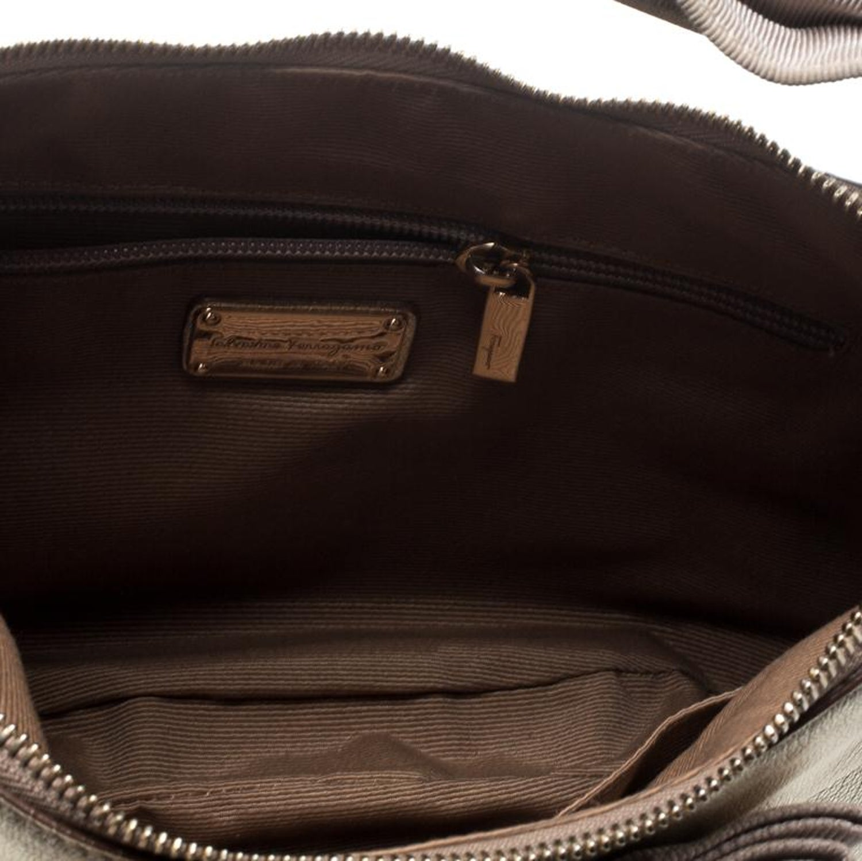 81aa4db29e Salvatore Ferragamo Metallic Light Gold Leather Miss Vara Hobo For Sale at  1stdibs