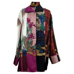 Salvatore Ferragamo Multicolor Silk Printed Pajama Shirt Size 38 IT