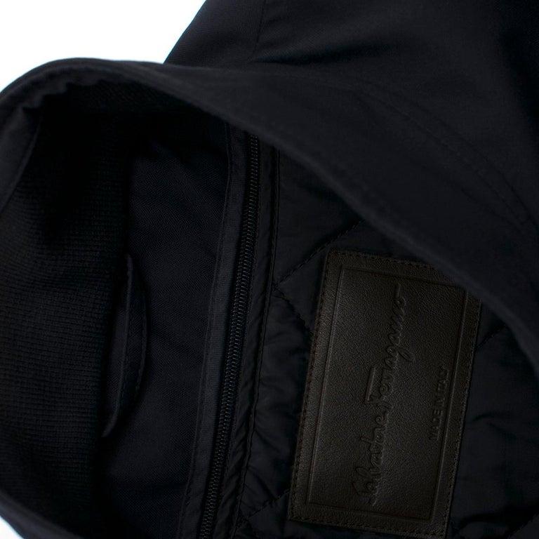 Men's Salvatore Ferragamo Navy Padded Trench Coat SIZE 58 For Sale