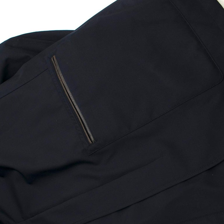 Salvatore Ferragamo Navy Padded Trench Coat SIZE 58 For Sale 4