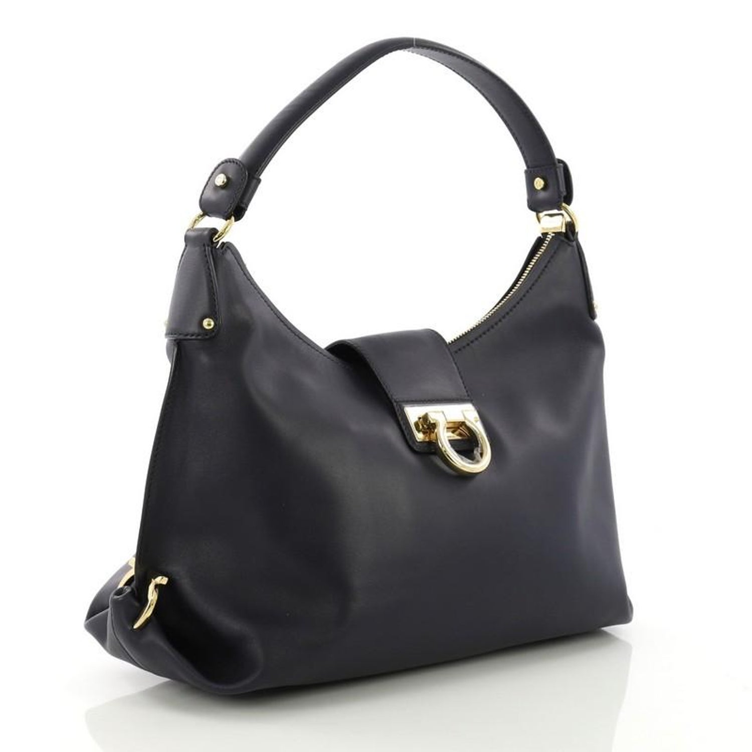 fe7e660d6b Salvatore Ferragamo New Fanisa Hobo Leather Small At 1stdibs. Quilted  Gancini Double Handle Bag