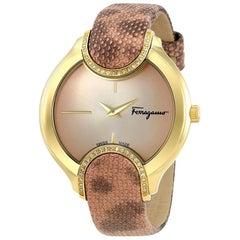 Salvatore Ferragamo Pink Gold Plated  FIZ050015 Women's Wristwatch 38MM