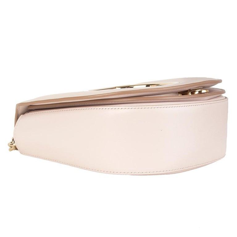 Women's SALVATORE FERRAGAMO pink leather VELA Shoulder Bag For Sale