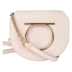 SALVATORE FERRAGAMO pink leather VELA Shoulder Bag